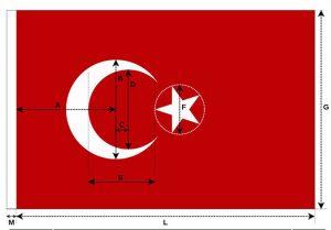 Türk bayrağı nizami ölçüleri