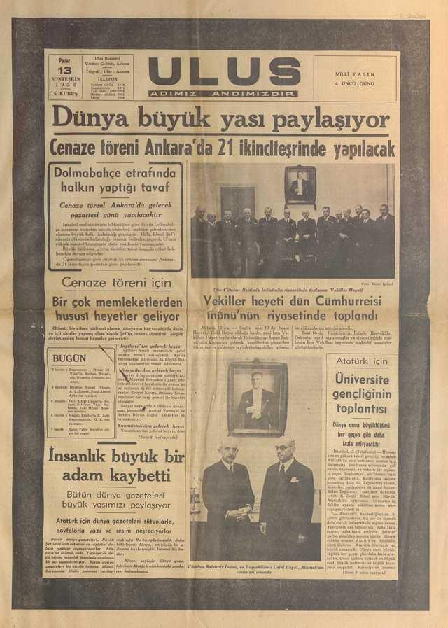 13_Kasım_1938_Ulus_Gazetesi