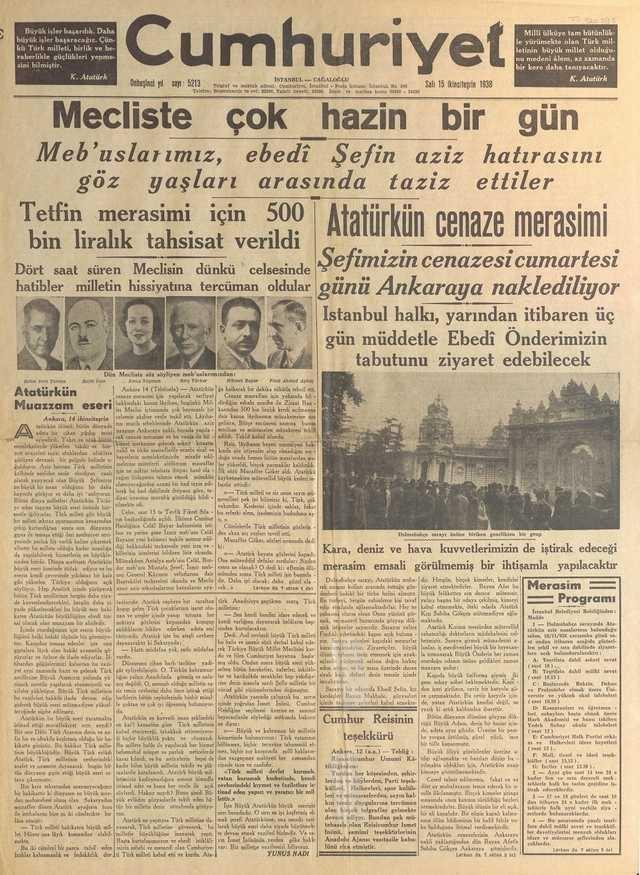 15_Kasım_1938_Cumhuriyet_Gazetesi