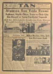 15_Kasım_1938_Tan_Gazetesi