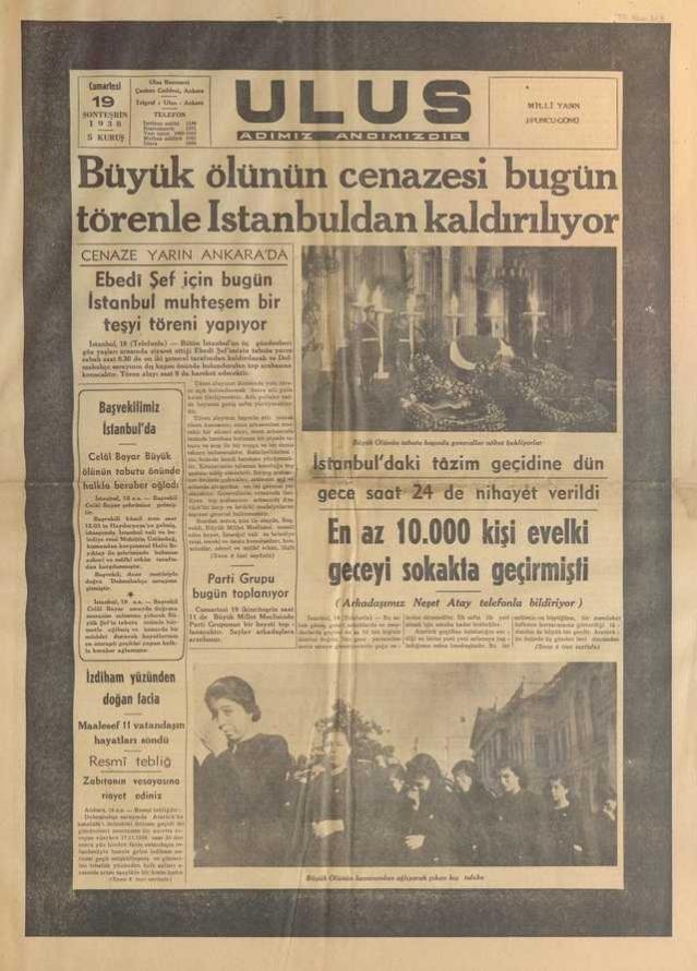 19_Kasım_1938_Ulus_Gazetesi