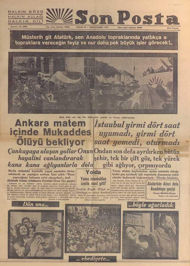 20_Kasım_1938_Son_Posta_Gazetesi