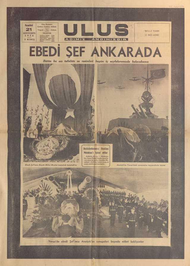 21_Kasım_1938_Ulus_Gazetesi