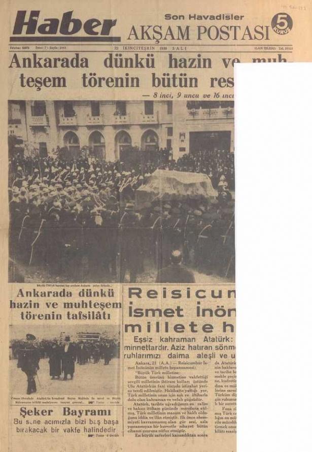 22_Kasım_1938_Aksam_Postasi_Gazetesi