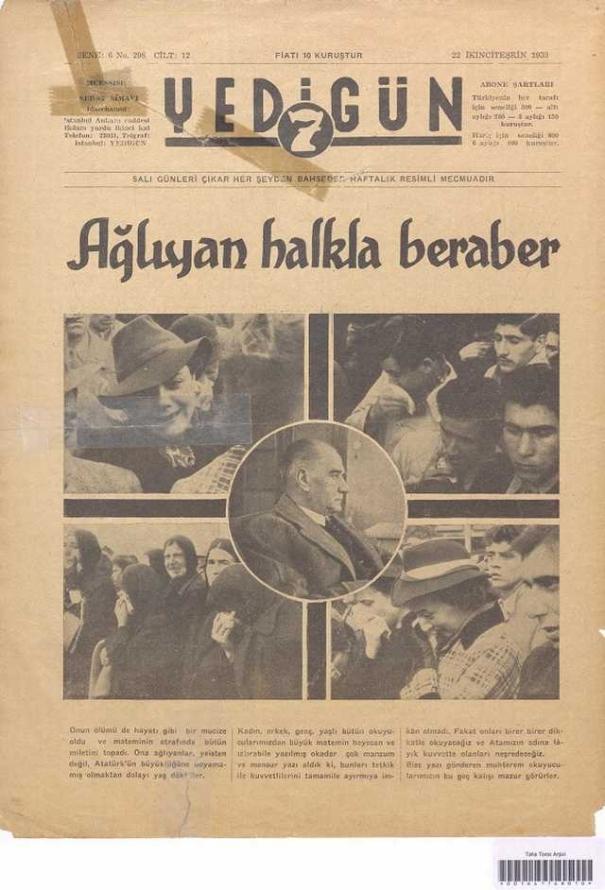 22_Kasım_1938_Yedigün_Gazetesi