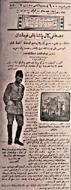 Başkomutan Atatürk gazete haberi 1921