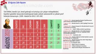 2019 yılı Atatürk takvimi