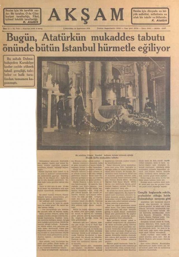 16_Kasım_1938_Aksam_Gazetesi