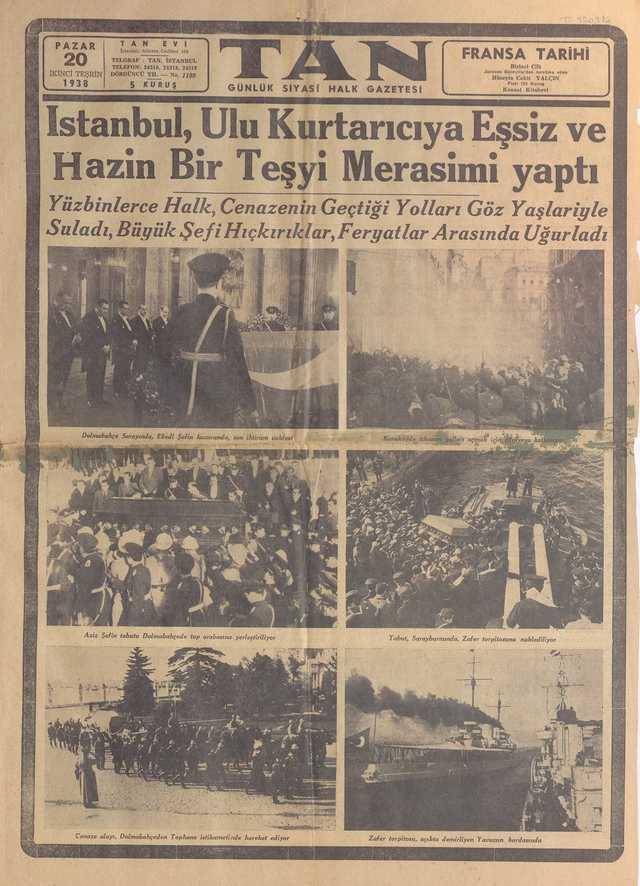 20_Kasım_1938_Tan_Gazetesi