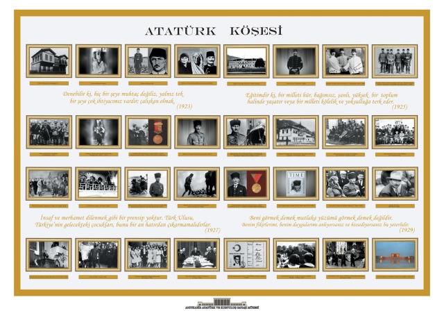 Atatürk posterleri, yatay 70x100 Okul Atatürk köşesi