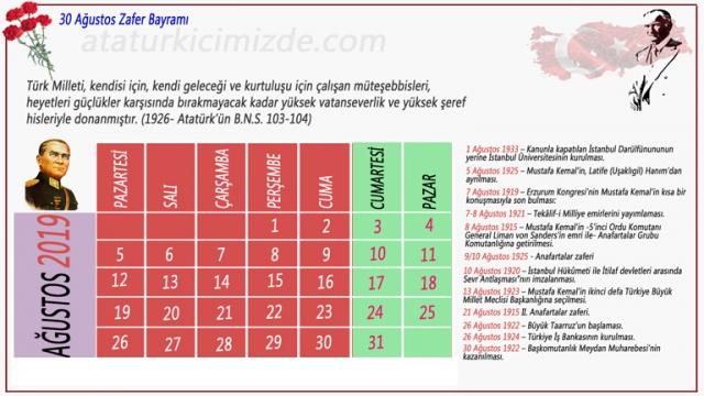 2019 Orta boy Atatürk takvimi 768x432